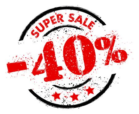 SUPER SALE 40% OFF rubber stamp grunge style