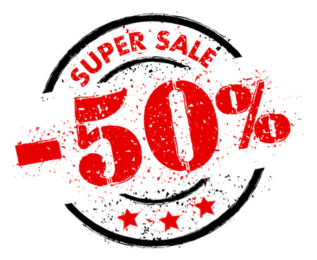 SUPER SALE 50% OFF rubber stamp grunge style