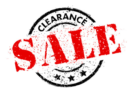 CLEARANCE SALE rubber stamp grunge style Ilustrace