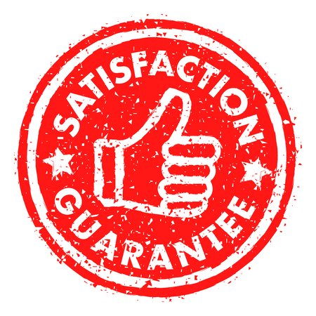 SATISFACTION GUARANTEE rubber stamp grunge style Ilustrace