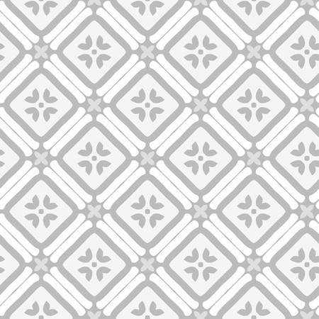 Vector abstract ornament floral seamless pattern background grey color