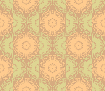 Vector abstract ornament floral seamless pattern background with color yellow and green