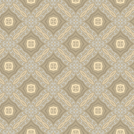 Vector ornament seamless pattern wallpaper, elegant pastel khaki color