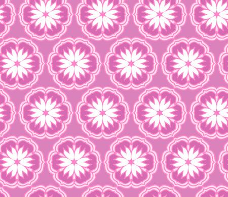 Vector ornament seamless pattern wallpaper, pink cherry blossoms