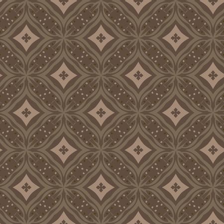 Vector ornament seamless pattern wallpaper, dark khaki theme