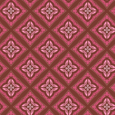 Vector ornament seamless pattern wallpaper, red blossoms