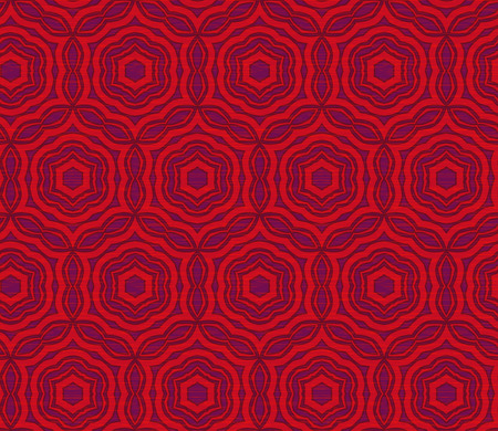 Vector ornament seamless pattern wallpaper, in red and purple