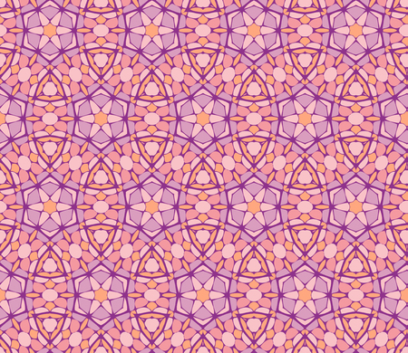 Vector ornament seamless pattern wallpaper, hydrangea blossoms in pink and purple