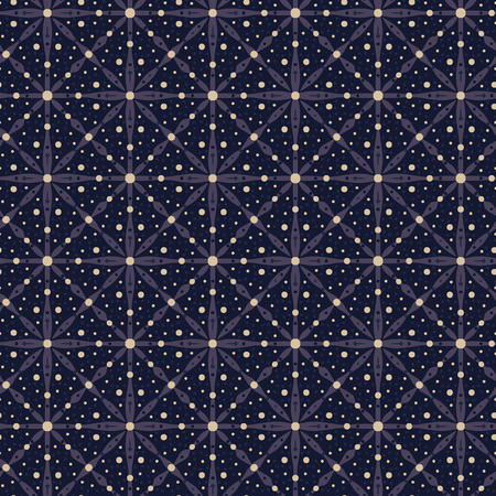 Vector ornament seamless pattern wallpaper, abstract starry night