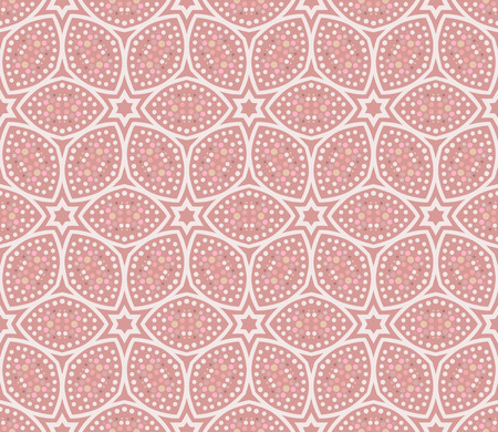 Vector ornament seamless pattern wallpaper, in pink theme