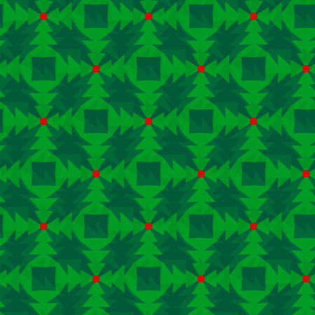 Vector ornament seamless pattern wallpaper, abstract Christmas trees 矢量图像