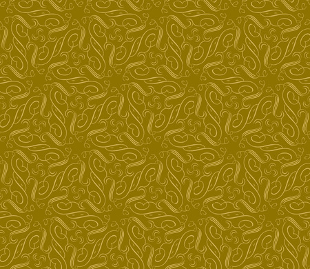 Vector ornament seamless pattern wallpaper, royal gold curve