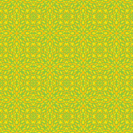 Vector ornament seamless pattern wallpaper, in green and yellow theme