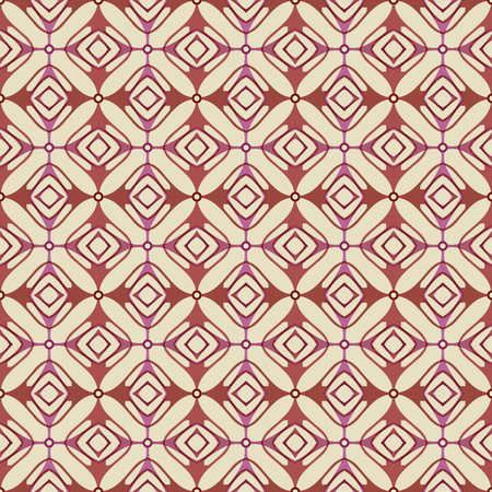 Vector ornament seamless pattern wallpaper, retro style in red