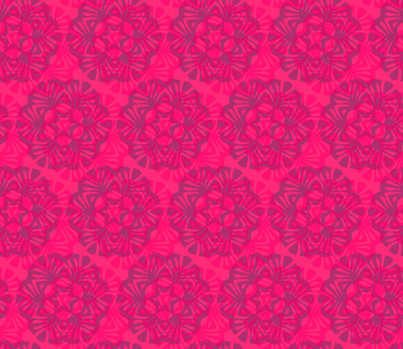 Vector ornament seamless pattern wallpaper, flower with a star in red