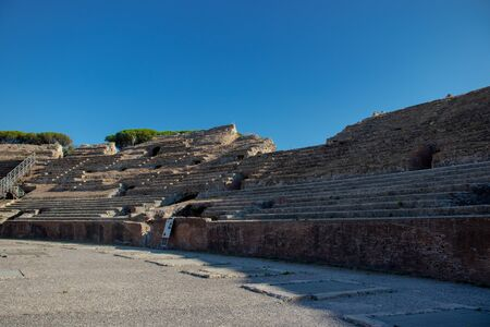 The Flavian Amphitheater is one of two Roman amphitheaters still in existence today.