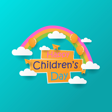 Happy Childrens Day sign concept