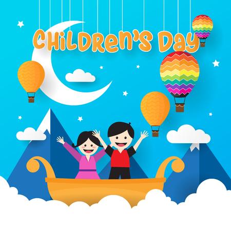 Happy childrens Day Vector Illustration