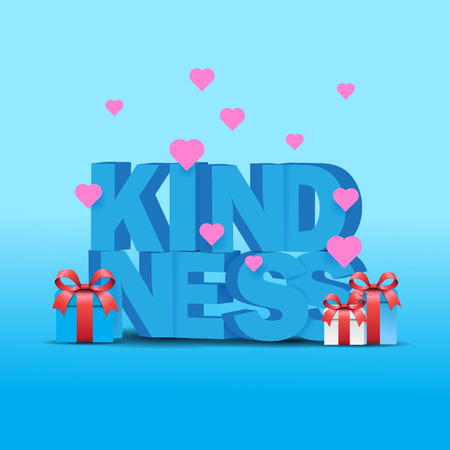 world kindness day with 3d text and love Stock Illustratie