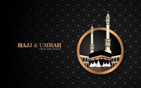 hajj and umrah luxuty background