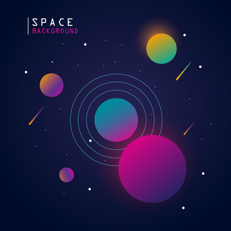 space background with gradient color