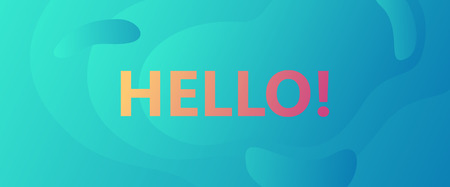 hello words creative banner concept Illustration