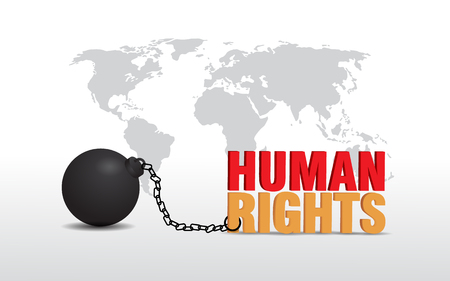 human rights day poster concept with chain