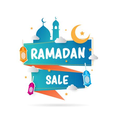 Bannière de vente de Ramadan Vecteurs