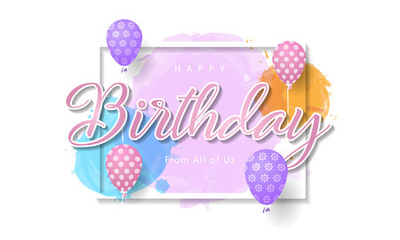Happy birthday creative background
