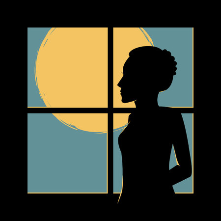 woman behind the window