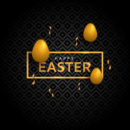 happy easter with luxury concept