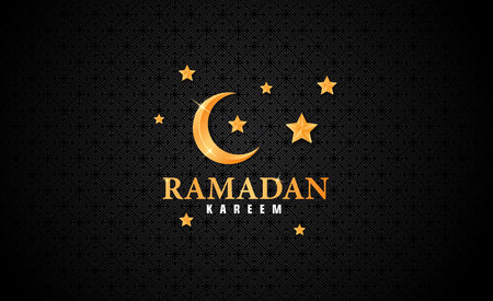 Ramadan kareem with dark background