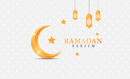Happy ramadan kareem with gold  イラスト・ベクター素材
