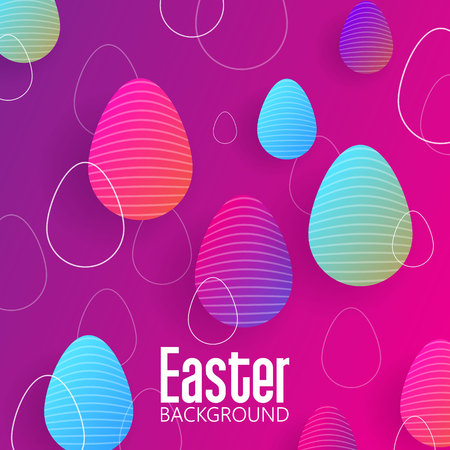 Easter background with gradient egg  イラスト・ベクター素材