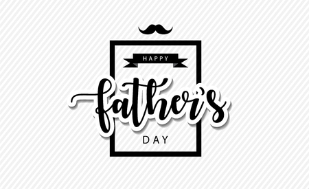 happy fathers day greeting vector eps