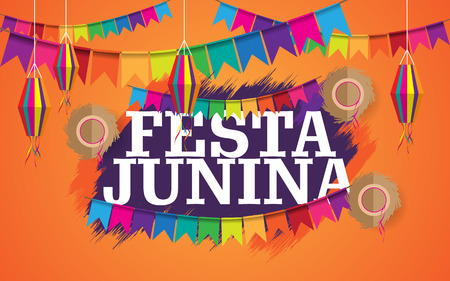 festa junina creative background vector
