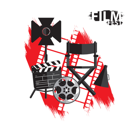film fest creative background with film set