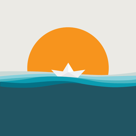 sea and sun background for summer day etc.