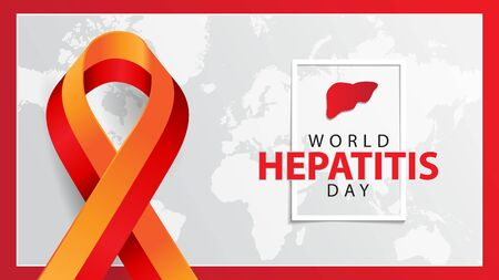 world hepatitis day banner concept