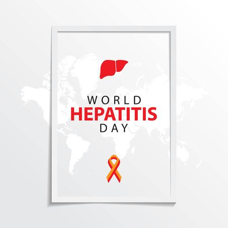 world hepatitis day greeting background with ribbon