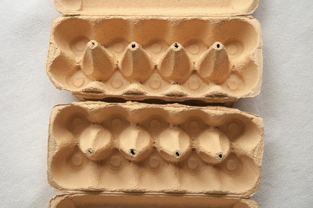 Two simmilar Egg Cartons side by side photo