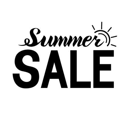 Summer sale lettering banner.