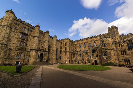 Durham castle in the city of Durham, England