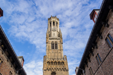 The Belfry of Bruges, bell tower in the centre of Bruges Stock Photo