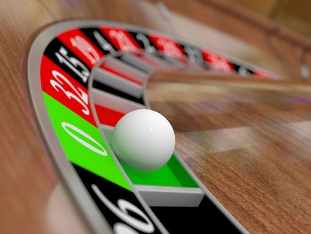 roulette wheel: A casinos roulette wheel