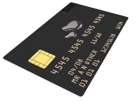 a single credit card isoalted on white