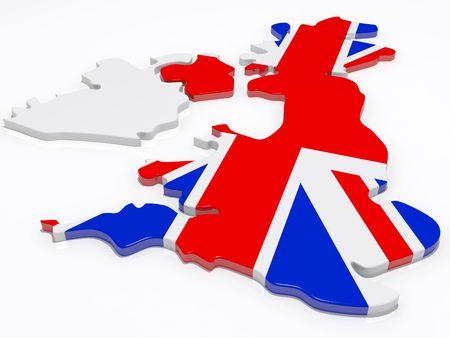 gewerkschaft: die British Isles abgedeckt in der Union Jack-Flagge