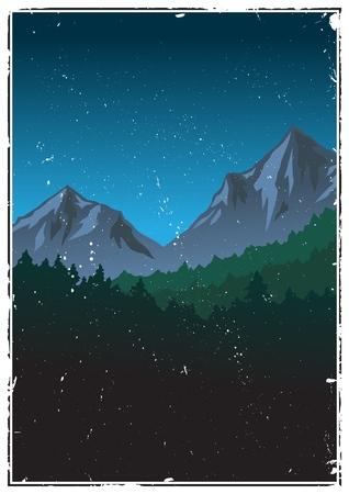 Berglandschaft . Vektor-Illustration Standard-Bild - 95075495