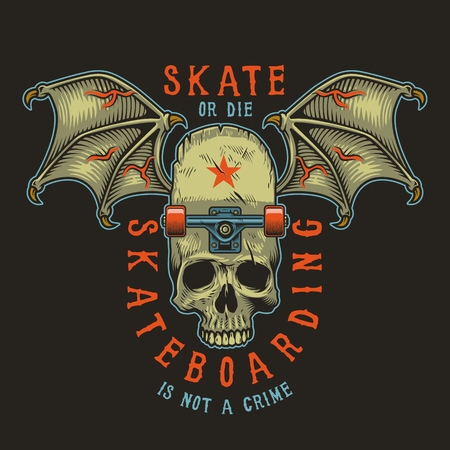 Colour skateboarding print graphic design illustration