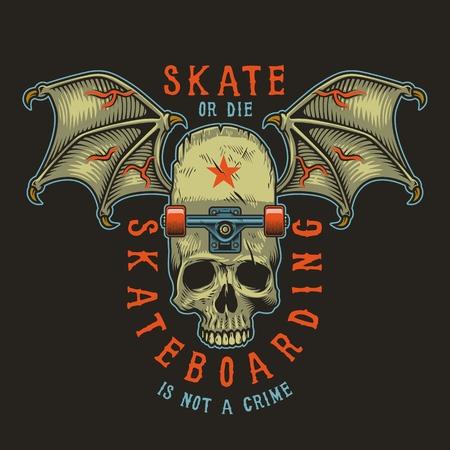 Colour skateboarding print graphic design illustration